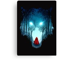 Big Bad Wolf (dark version) Canvas Print