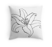 Lilium fragance Throw Pillow
