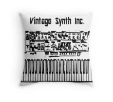 Vintage synth inc. Throw Pillow