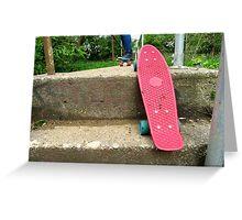 Cruiser boards on a bridge Greeting Card
