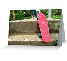 Cruiser boards on a bridge Greeting Card