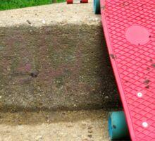 Cruiser boards on a bridge Sticker
