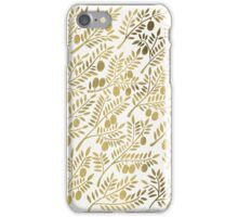 Gold Olive Branches iPhone Case/Skin