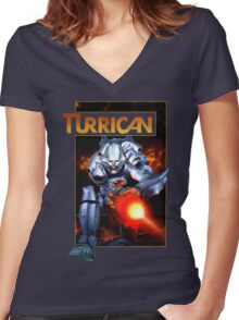 Turrican T-Shirt Women's Fitted V-Neck T-Shirt