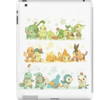 All Starter Pokemon From All Generations iPad Case/Skin