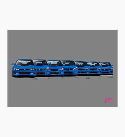 Subaru WRX STi generations - Poster V2 Photographic Print