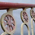 Footbridge railing at Llanfairpwllgwyngyllgogerychwyrndrobwyllllantysiliogogogoch by Anna Myerscough