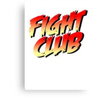 Fight Club - Street Fighter Shirt  Canvas Print