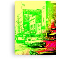 Lemon-Lime Downtown Youngstown - The 1960s Canvas Print