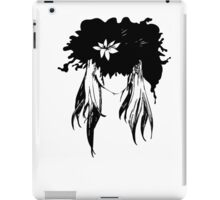 Her mind - an explosion of ink petals  iPad Case/Skin