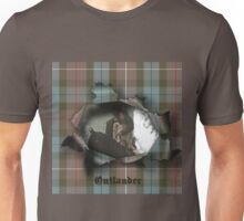 Jamie & Claire in plaid tear. Unisex T-Shirt
