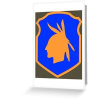 98th Infantry Division/Training Division 'Iroquois' (United States) Greeting Card