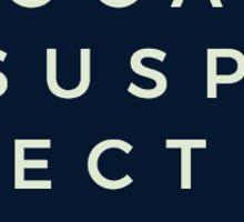 The Vocal Suspects Eye Chart Navy Sticker Sticker
