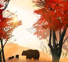Bears in the Woods Sticker