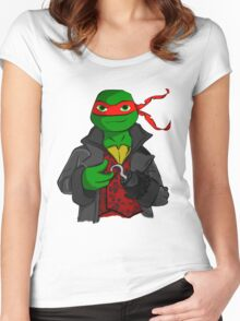 Captain Raph Women's Fitted Scoop T-Shirt