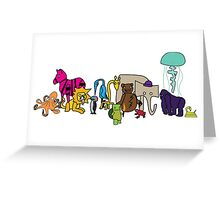 The Strange Menagerie Greeting Card