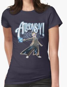 Allons-Y! - Brown Suit Womens Fitted T-Shirt