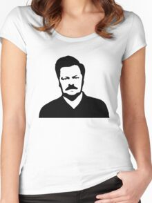 Ron Swanson - Parks and Recreation Women's Fitted Scoop T-Shirt