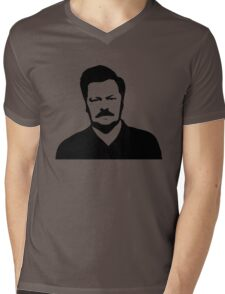 Ron Swanson - Parks and Recreation Mens V-Neck T-Shirt