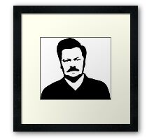 Ron Swanson - Parks and Recreation Framed Print