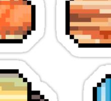 Mini Pixel Planets - Set of 8 Sticker