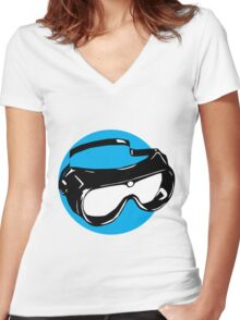 Goggles Women's Fitted V-Neck T-Shirt