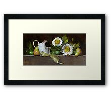 Golden Ribbon Framed Print