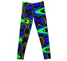Psychedelic Cells in Blue and Green Leggings