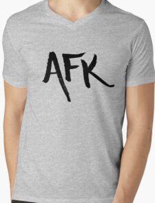 AFK - Black Mens V-Neck T-Shirt