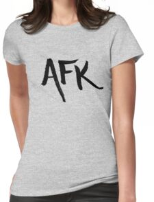 AFK - Black Womens Fitted T-Shirt