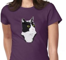 Regal Tuxedo Kitty Womens Fitted T-Shirt