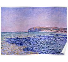 Claude Monet - Shadows on the Sea  The Cliffs at Pourville (1882)  Poster