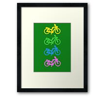 Four Small Bicycles Together Framed Print