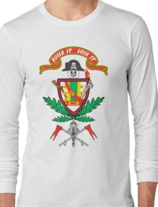 """""""Old School Family Crest"""" Long Sleeve T-Shirt"""