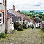 Gold Hill, Shaftesbury, Dorset, UK by Pauline Tims