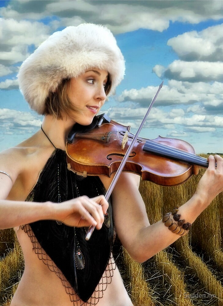 Fiddling In The Field by SuddenJim