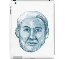 Blue Man Identikit Drawing iPad Case/Skin
