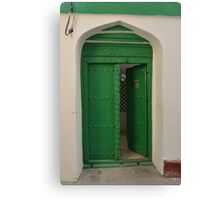 Green door, Zanzibar Canvas Print