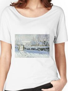 Claude Monet - The Magpie  Women's Relaxed Fit T-Shirt