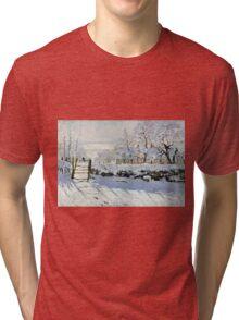 Claude Monet - The Magpie  Tri-blend T-Shirt