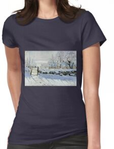 Claude Monet - The Magpie  Womens Fitted T-Shirt