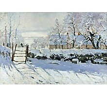 Claude Monet - The Magpie  Photographic Print