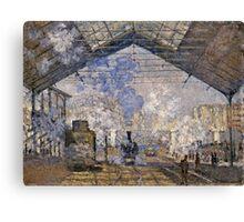 Claude Monet - The Saint Lazare Station (1877)  Canvas Print