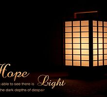 Hope Light Darkness Encouragement Inspiration Lamp by Beverly Claire Kaiya