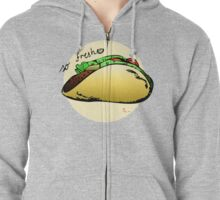 So fresh - tacos with a wedge of lime Zipped Hoodie