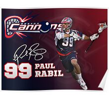 Paul Rabil Lacrosse Boston Cannons Poster Poster