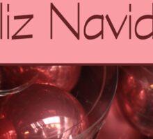 Feliz Navidad -  Spanish Christmas card Sticker