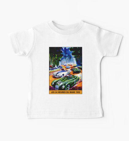 """DU MANS GRAND PRIX"" Vintage Auto Racing Print Baby Tee"