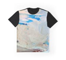 Cool Blue Marble Graphic T-Shirt