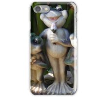 Garden Frogs Making Music iPhone Case/Skin